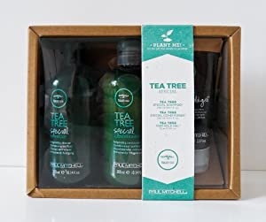Paul Mitchell Special Tea Tree Shampoo, Conditioner 10.14oz with Firm Gel 2.5 Oz Gift Set