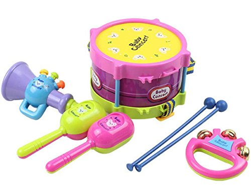 Topwon-Kids-Todder-Mini-Rock-Band-Drum-Pretend-Music-Toy-53-Age-1