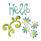 Sizzix Sizzlits Die Hello Set by Karen Burniston, Pack of 3