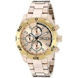 Invicta Men's 17755SYB Specialty Analog Display Quartz 18k Rose Gold Ion-Plated Watch