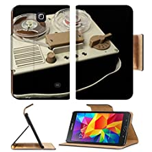 buy Msd Premium Samsung Galaxy Tab 4 7.0 Inch Flip Pu Leather Wallet Case A Small Vintage Reel To Reel Tape Recorder Image 21317377