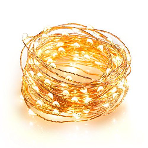 TaoTronics Outdoor String Lights, 100 Leds String Lights 33ft Christmas Waterproof Decorative Lights for Bedroom, Patio, Parties( Copper Wire Lights, Warm White ) (Tao Led Lighting compare prices)