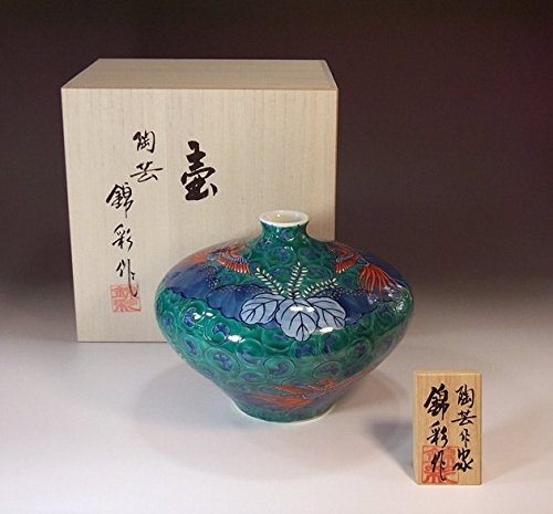 有田焼・伊万里焼の陶器花瓶・鳳凰唐草|贈答品|ギフト|記念品|贈り物|陶芸家 藤井錦彩