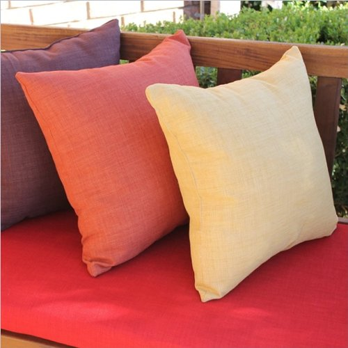 Blazing Needles Outdoor 20 In. Solid Outdoor Throw Pillow - Set Of 2 front-852208