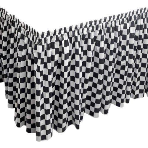 Black/White Checker Table Skirts - 29