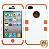 Product B008EOPZXG - Product title MYBAT IPHONE4AVHPCTUFFSO015NP Premium TUFF Case for iPhone 4 - 1 Pack - Retail Packaging - Ivory White/Orange