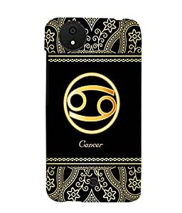 Fuson 3D Printed Sunsign Cancer Designer back case cover for Micromax Android A1 - D4249
