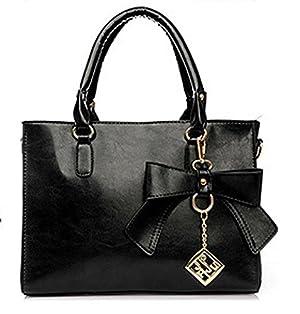 Women's Top Handle Handbag Faux Leather Shoulder Bag Fashion Crossbody Handbag With Metal Zipper