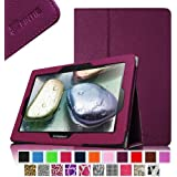 Fintie Lenovo IdeaTab S6000 Folio Leather Case Cover with Auto Sleep / Wake Feature for Lenovo IdeaTab S6000 10.1-Inch Android Tablet - Purple