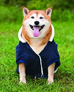 Fashion Pet Outdoor Dog Sherpa Warm Up Coat, Small, Blue