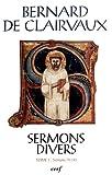 img - for Sermons Divers by Bernard de Clairvaux (2012-10-25) book / textbook / text book