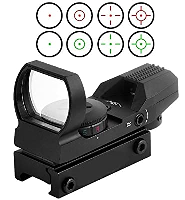 Red and Green Reflex Sight with 4 Reticles by RioRand