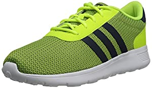 Adidas NEO Men's Lite Racer Lifestyle Running Shoe, Solar Yellow/Navy/Yellow, 9.5 M US