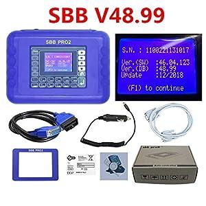Best Quality Silca SBB V48.99 V48.88 V46.02 V33.02 Works Multi-Brand Car SBB Transponder Key Programmer Multi-Language (SBB V46.02 ZedBull) (Color: SBB V46.02 ZedBull)