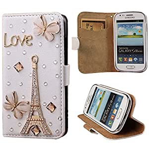 xhorizon TM Premium Leather Flip 3D Bling Rhinestone Diamond Crystal Stand Wallet Case ZY for iPhone 4/4s/5/5s/6/6 Plus Samsung GALAXY S3/S4/S5/Note2/Note3/Note4/S3 Mini/S4 Mini