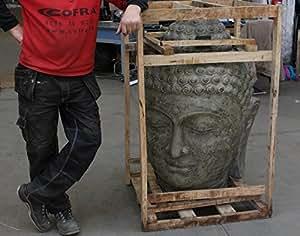 buddha kopf gro stein figur statue gartenfigur steinfigur. Black Bedroom Furniture Sets. Home Design Ideas