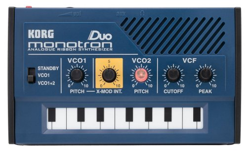 Korg Monotron Duo Analogue Ribbon Synth with Dual Oscillator and Built-in Speaker. Cool mini synth for creating old school sounds.