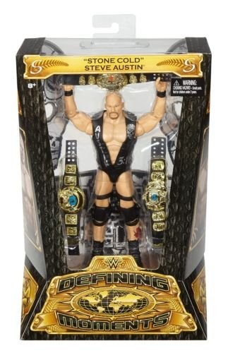 Toy Store - Mattel WWE Defining Moments Elite Stone Cold Steve Austin IN STOCK NOW - New Arrival
