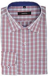 Basil Men's Formal Shirt (BA310CCHK18FSF, White, 40)