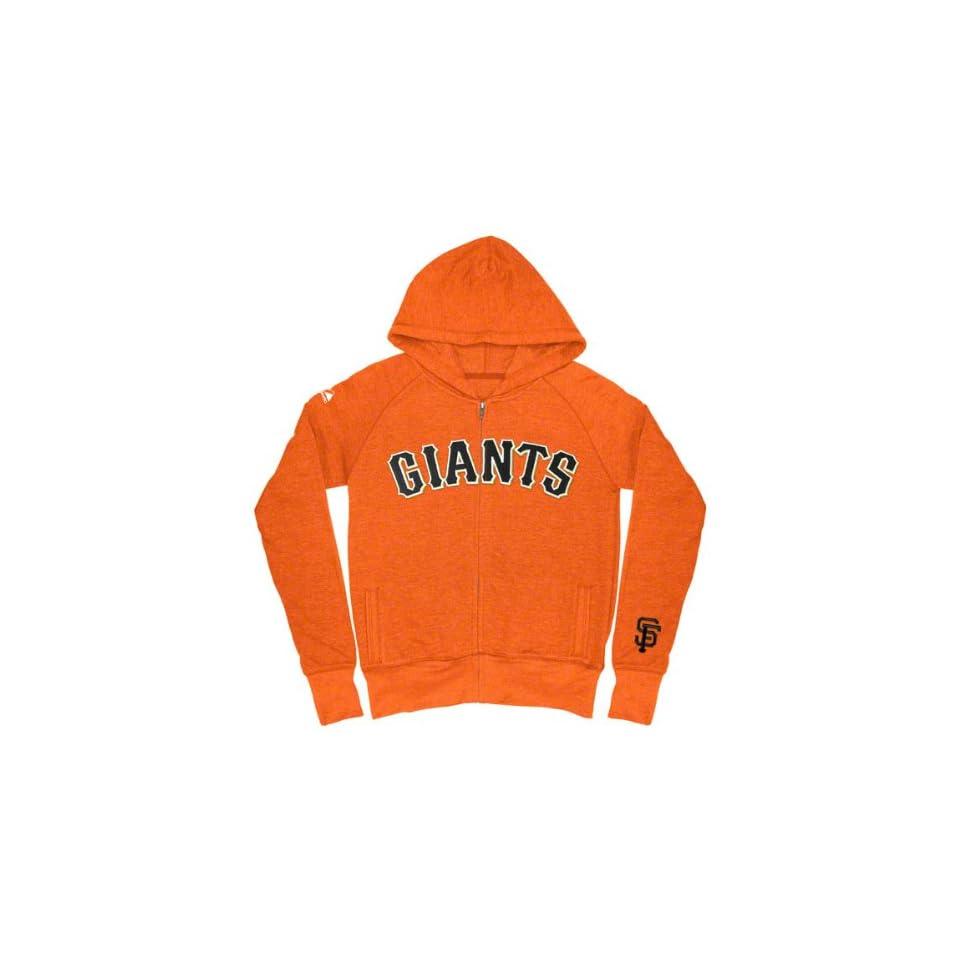 San Francisco Giants Girls (7 16) Orange Full Count Full Zip Hooded Fleece Sweatshirt