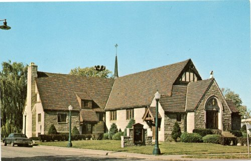 1970s Vintage Postcard Grace Lutheran Church