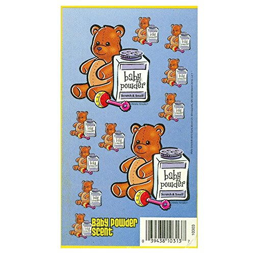 Mello Smello Scratch & Smell Stickers - Baby Powder (Blue)