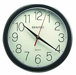 Sentry Cl10b Large Number Wall Clock 10 Inch