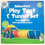 Fun & Leisure Adventure Play Tent and Tunnel Set *2 Piece* Indoor Outdoor TOY