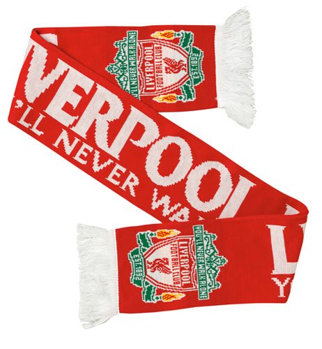 Liverpool Jacquard Scarf Red