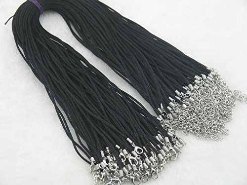 konmay-50pcs-black-satin-silk-necklace-cord-20mm-20-with-2-extension-chain-leadnickel-free