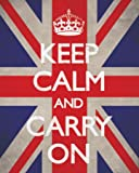 Keep Calm And Carry On (Union Jack) Mini Poster Print, 41x51 cm