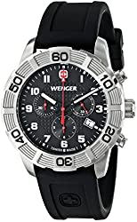 Wenger Men's Roadster Chrono Watch with Silicone Bracelet