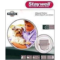 STAYWELL Big Cat Small Dog 4 Way Locking Pet Door (White) (280EFS)