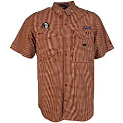 NCAA Columbia Florida State Seminoles (FSU) Plaid Super Bonehead Button-Down... by Columbia