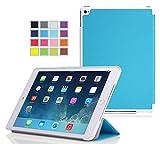 iPad Pro 9.7 インチ ケース 【KuGi】 スタンド機能付き iPad Pro 9.7インチ カバー 三つ折型 超薄型 軽量 マグネット開閉式 高品質PUレザーケース( ブルー )