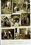 Original old antique victorian print SCHIACCIARE IDRAULICO DI JEREZ DI 1950 DEL TORCHIO UVA DELLA SPAGNA