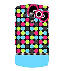 Color Dots Girl 3D Hard Polycarbonate Designer Back Case Cover for Samsung Galaxy S Duos S7562