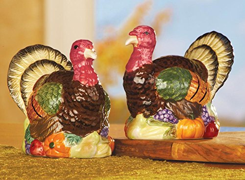 Thanksgiving Turkey Salt & Pepper Shakers (Grapes Salt And Pepper Shakers compare prices)