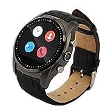 UZOU A8 Smart Watch Smartwatch Montre Connecté Intelligent Pedomètre Caloris Surveillance Support Micro SIM Carte APK Compatible Android MIUI System Gris