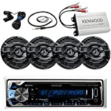 New Kenwood Marine Boat Yacht Bluetooth Digital USB AUX iPod iPhone AM/FM Radio Stereo Player With 4 X 6.5
