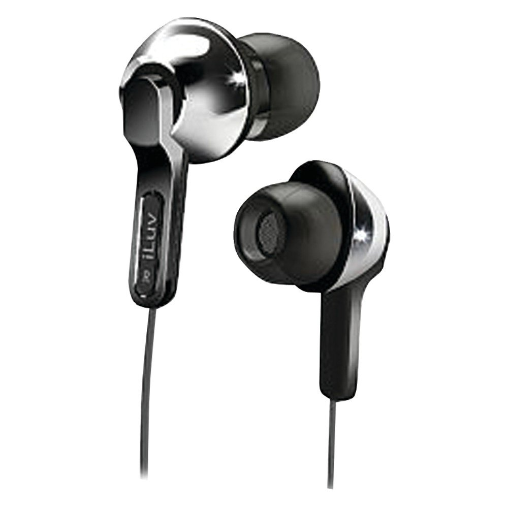 iLuv iEP322SIL City Lights In-Ear Earphones – Ultra Bass – Silver $5.95