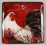 Avignon Rooster Square Platter 12.5