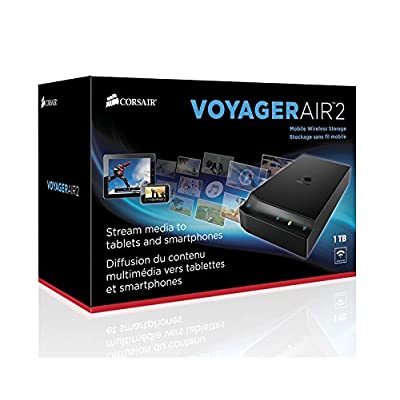 Corsair Voyager Air 2 Wireless Mobile Storage (1 TB), iOS and Android, Black (CMFAIR-VA2-1000-NA)