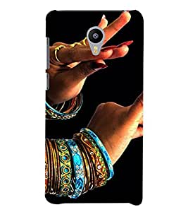 PrintVisa Indian Girl Bangles Dance Design 3D Hard Polycarbonate Designer Back Case Cover for YU Yunicorn