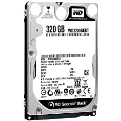WD Black 320 GB Mobile Hard Drive: 2.5 Inch, 7200 RPM, SATA II, 16 MB Cache, 5 Year Warranty - WD3200BEKT