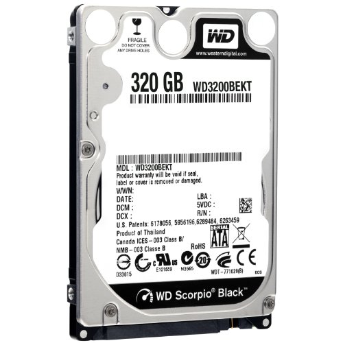 WD Black 320 GB Mobile Hard Drive: 2.5 Inch,