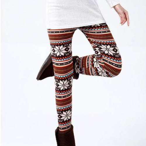 Sale alerts for Fenhe CO.,LTD Fenheca Womens Girls Knitted Colorful Pattern Soft Leggings Tights Pants - Covvet