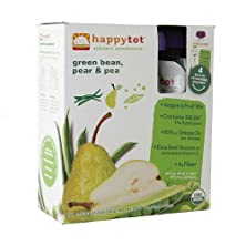 buy Happy Tots Organic Superfood, Green Beans, Pear & Pea 4.22 Oz (Pack Of 3)