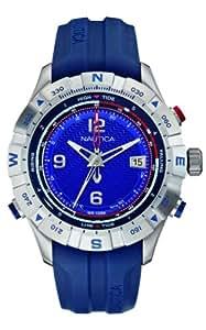 Nautica NST 550 Tide Temp Compass Herren-Armbanduhr Analog Resin Blau A21033G