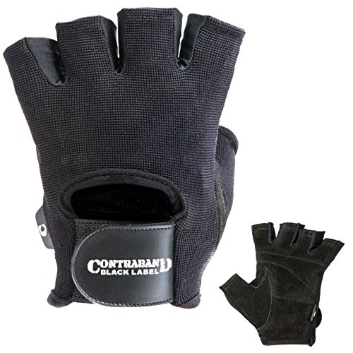 Contraband-Black-Label-5050-Basic-Weight-Lifting-Gloves-PAIR